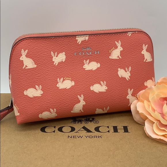COACH COACH COSMETIC CASE WITH BUNNY SCRIP…
